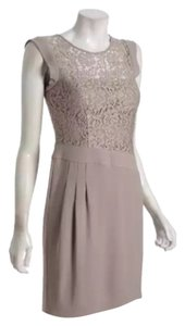 BCBGMAXAZRIA Lace Neutral A-line Sheath Dress