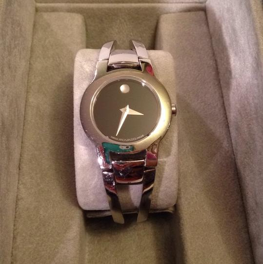 Movado Silver Movado cuff womans watch. Well kept. Image 1