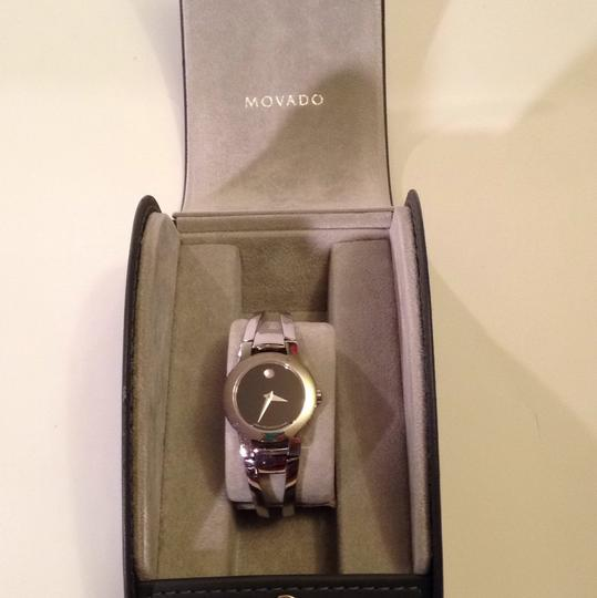Movado Silver Movado cuff womans watch. Well kept. Image 3