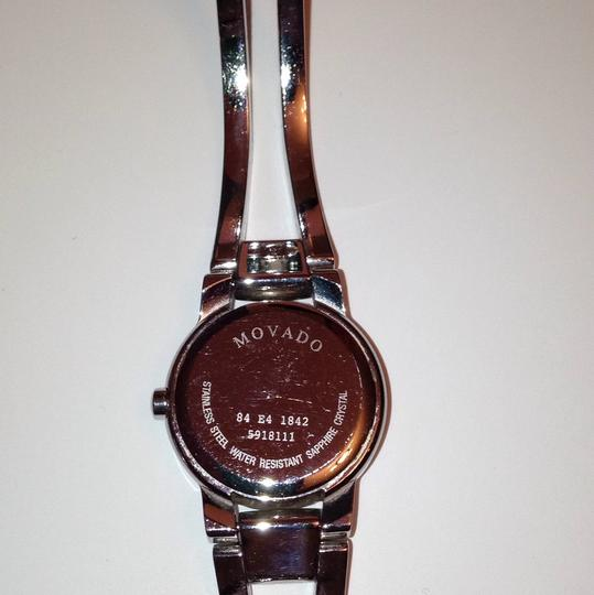 Movado Silver Movado cuff womans watch. Well kept. Image 4