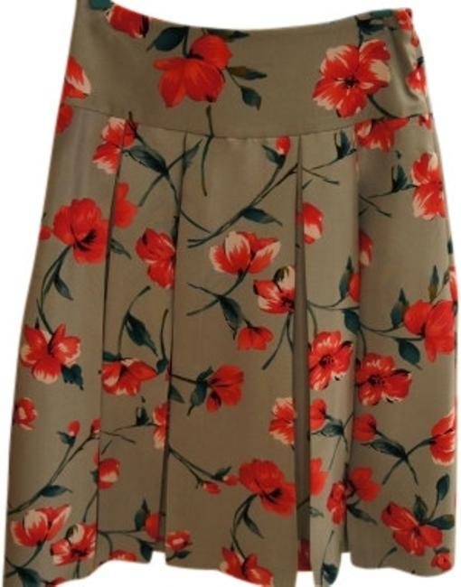 Preload https://item3.tradesy.com/images/express-green-silk-pleated-floral-print-knee-length-skirt-size-2-xs-26-11392-0-0.jpg?width=400&height=650