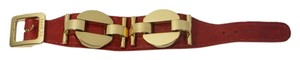 CC SKYE CC Skye Red Leather Gold Bracelet