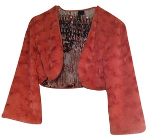 Ethyl Faux Fur Orange Bolero Sweater