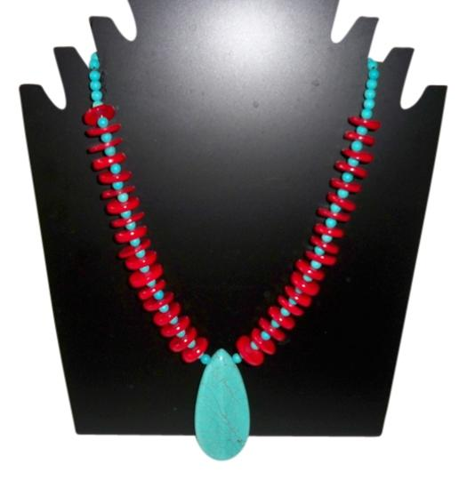 Preload https://item3.tradesy.com/images/turquoise-and-red-sea-coral-with-pendant-necklace-1139397-0-0.jpg?width=440&height=440