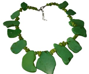 Amy's Closet Green Howlite and Turquoise Gemstones Necklace - item med img