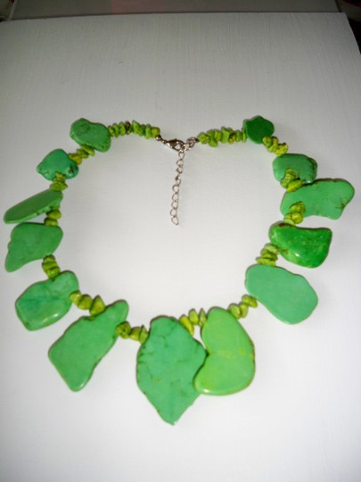 Other Green Howlite and Turquoise Gemstones Necklace