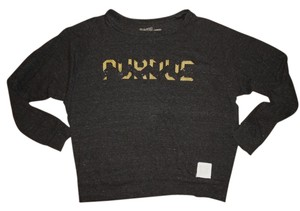 Original Retro Long-sleeved College Purdue University Alma Mater Gold Sparkly Glitter Purdue T Shirt Dark Gray