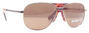 William Rast WILLIAM RAST WRS 2009 Sunglasses Color MGD-1 Mt Gold Demi Amber w/Brown Lenses ~ Size 59 mm