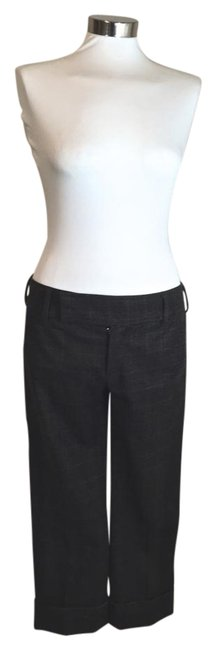 Vince Wool Plaid Capri/Cropped Pants Brown