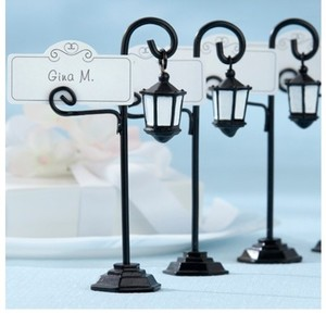 Kate Aspen Black Mini Street Lamps Reception Decoration