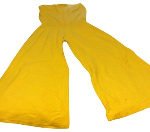 Victoria's Secret Wide Leg Pants Canary Yellow