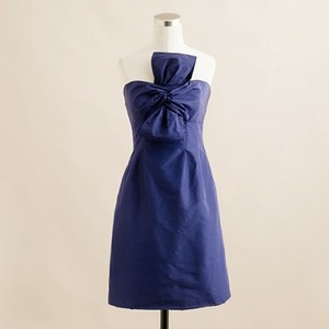 J.Crew Dark Pacific Bow Monde Dress