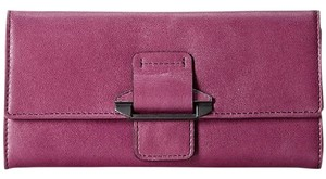 Kooba Kooba Tab Leather Wallet Oodles Of Space Magenta New