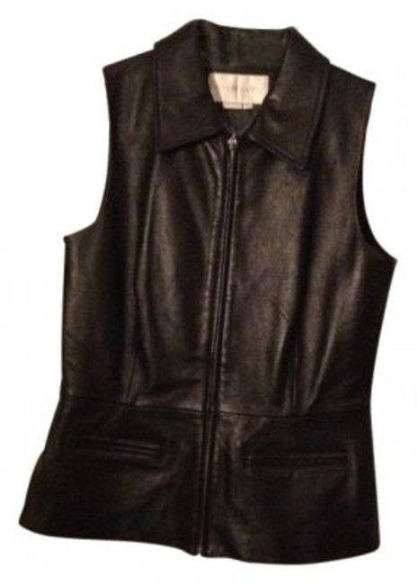 Preload https://item4.tradesy.com/images/margaret-godfrey-black-leather-night-out-top-size-12-l-11398-0-0.jpg?width=400&height=650
