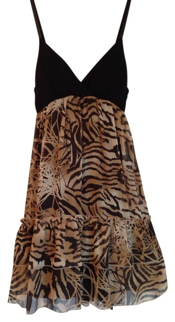 Preload https://item1.tradesy.com/images/guess-blacktan-safari-print-above-knee-cocktail-dress-size-2-xs-1139845-0-0.jpg?width=400&height=650
