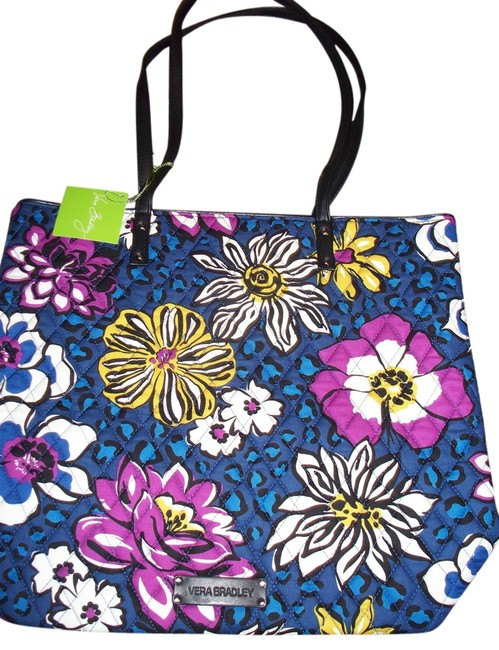 Item - Bag School Baby Retired Day African Violets Purple Blue Cotton Tote