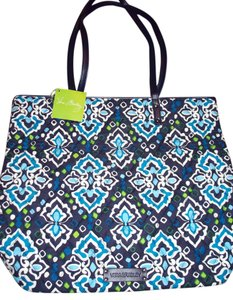 Vera Bradley Baby Beach Black Straps Nwt Travel School Baby Retired Breast Cancer Awareness Christmas Gift Hiday Wedding Tote in Ink Blue White