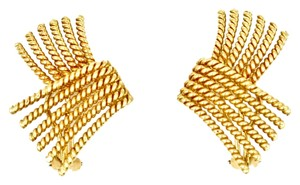 Tiffany & Co. Jean Schlumberger V-Rope Ear Clips in 18k Yellow Gold.