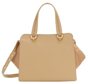 Zac Posen Leather Geometric Eartha Satchel Shoulder Bag