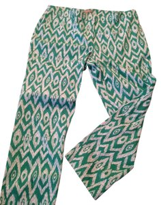 Chico's Relaxed Pants Green/White