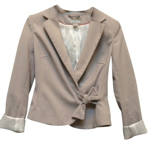 H&M Work Career Blazer Top Latte