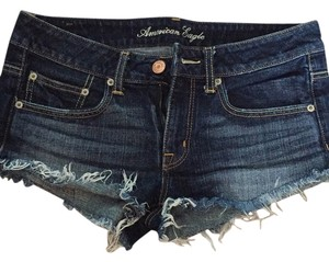 American Eagle Outfitters Cut Off Shorts Dark blue rinse