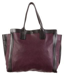 Chloé Tote in Aubergine (Deep wine color) and Black
