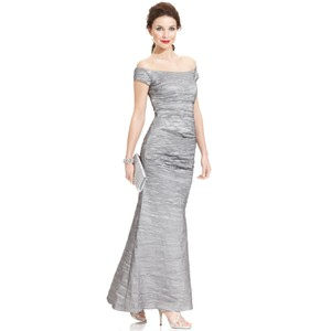 Alex Evenings Silver/Platinum Alex Evenings Dress
