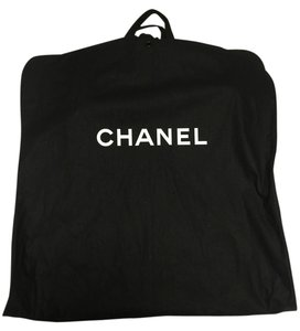 Chanel New Chanel CANVAS Black Travel Storage Garment Bag Front Zip