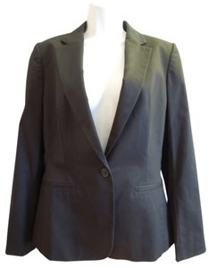 Banana Republic Womens Career Suit Jacket Fitted Structured Corporate Office Work Black Blazer