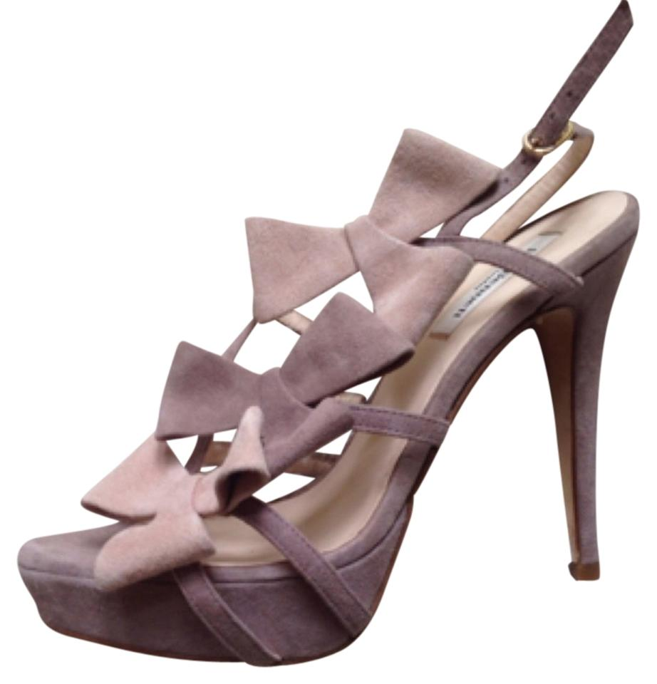 Lk Bennett Mauve Pink Glamour Bow Sandals Size Eu 39 Approx Us High Heels Suede Bows Stiletto