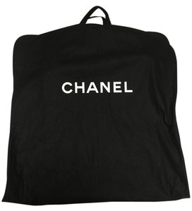 Chanel Chanel CANVAS Black Travel Storage Garment Bag Front Zip