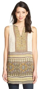 NIC+ZOE Tunic Under The Sun Sleeveless Sleeveless Top Multi Yellow