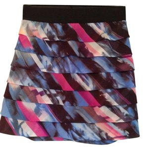 Guess Mini Skirt Blue/Pink/Black Multi