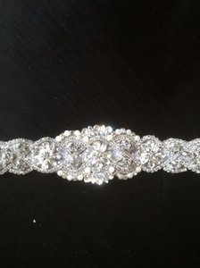 Crystal And Ribbon Tie Belt