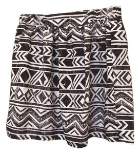 BCX Mini Skirt Black and White