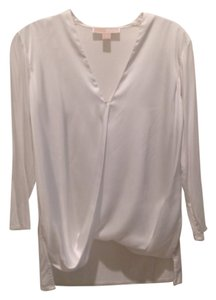MICHAEL Michael Kors Top White and Metallic silver