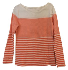 Ann Taylor T Shirt Orange and white