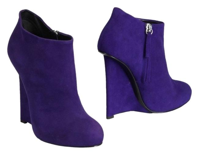 Item - Purple Wedge Boots/Booties Size US 8.5