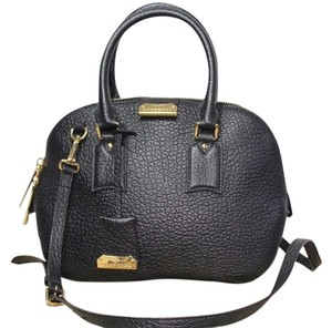 Burberry Orchard Leather Crossbody Satchel in Black