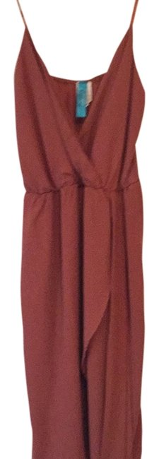 Item - Rust Above Knee Cocktail Dress Size 6 (S)