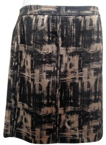 Talbots Pencil Lined Skirt Black and Silver Gray