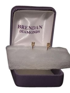1/4 ct tw Diamond stud earrings in 14K Gold 1/4 Ct Round