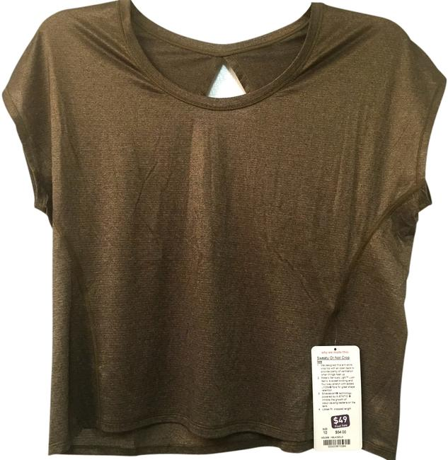 Item - Heathered Black and Gold Sweaty Or Not Activewear Top Size 10 (M, 31)