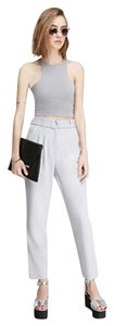 High Waisted Trouser Pants Grey
