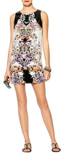 Rhyme short dress Floral Mini Faux Leather on Tradesy