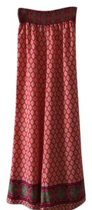 painted threads Wide Leg Pants Red