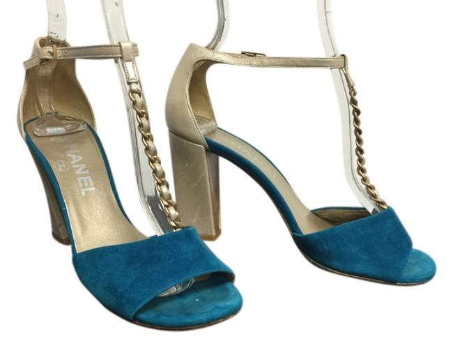 Item - Aqua/Champagne Sandals Formal Shoes Size US 5.5 Regular (M, B)