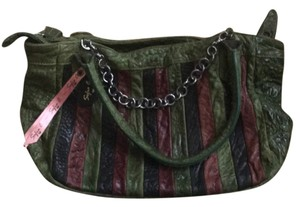 Sophia C. Satchel in Green, Purple, Black
