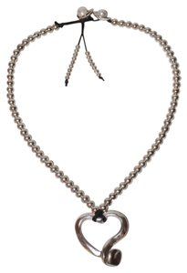 Annalyn Jewelry Adjustable Silver Zamak Metal Heart Pendent Necklace with Pearls